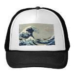 Gran onda de Katsushika Hokusai de Kanagawa Gorras De Camionero