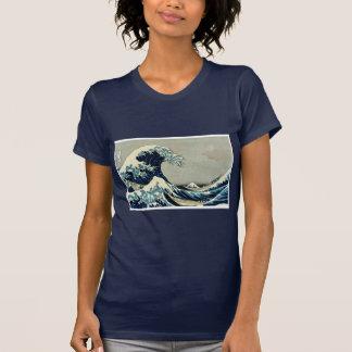 Gran onda de Katsushika Hokusai de Kanagawa Camiseta