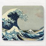 Gran onda de Katsushika Hokusai de Kanagawa Alfombrillas De Raton