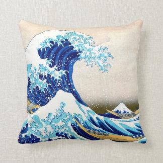 Gran onda de la bella arte de Kanagawa Hokusai Cojín