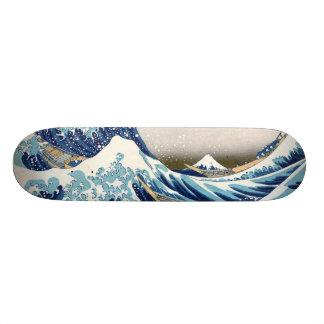 Gran onda de la bella arte de Kanagawa Hokusai Skate Board