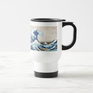 Gran onda de la bella arte de Kanagawa Hokusai Taza Térmica