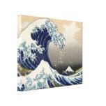 Gran onda de la bella arte de Kanagawa Oriental Lona Envuelta Para Galerias