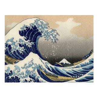 Gran onda de la bella arte de Kanagawa Oriental Tarjeta Postal