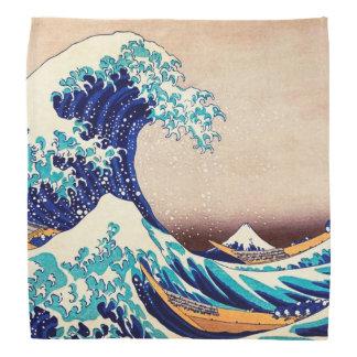 Gran onda de la bella arte japonesa del vintage de bandana