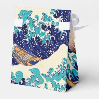 Gran onda de la bella arte japonesa del vintage de cajas para regalos