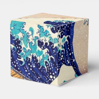Gran onda de la bella arte japonesa del vintage de cajas para regalos de boda