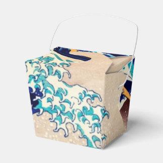 Gran onda de la bella arte japonesa del vintage de cajas para regalos de fiestas