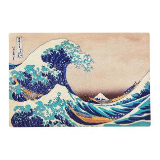 Gran onda de la bella arte japonesa del vintage de tapete individual
