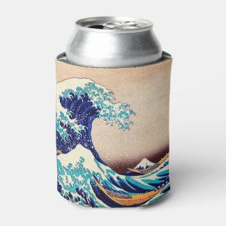 Gran onda de la bella arte japonesa del vintage de enfriador de latas