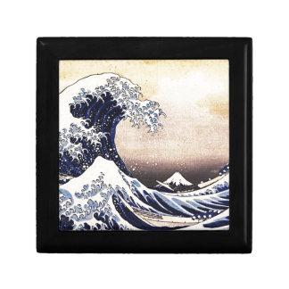 Gran onda de la impresión de Woodblock del japonés Cajas De Recuerdo