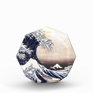 Gran onda de la impresión de Woodblock del japonés