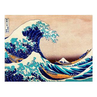 Gran onda de la impresión de Woodblock del japonés Tarjeta Postal