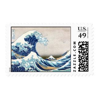 Gran onda de la multa japonesa del vintage de sello