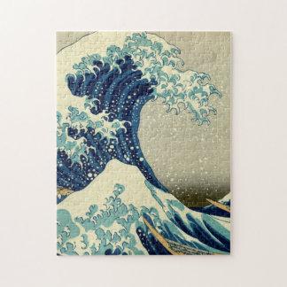 Gran onda de la pintura de Kanagawa Ukiyo-e Puzzle Con Fotos