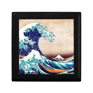 Gran onda del arte de la impresión del japonés del cajas de joyas