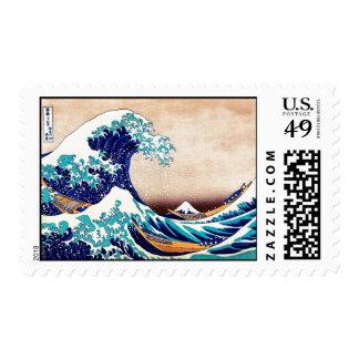 Gran onda del arte de la impresión del japonés del estampilla