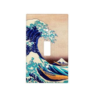 Gran onda del arte de la impresión del japonés del placa para interruptor