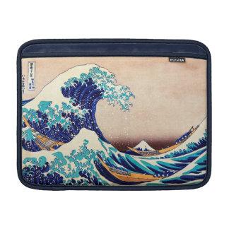 Gran onda del arte japonés de la impresión del fundas para macbook air