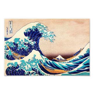 Gran onda del arte japonés de la impresión del arte fotográfico