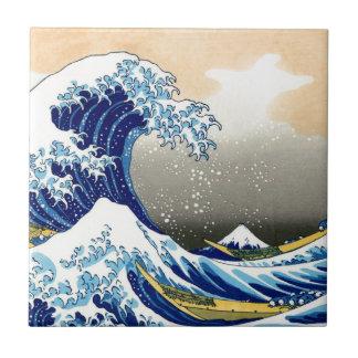 Gran onda del ~ Hokusai de Kanagawa Azulejo Cerámica