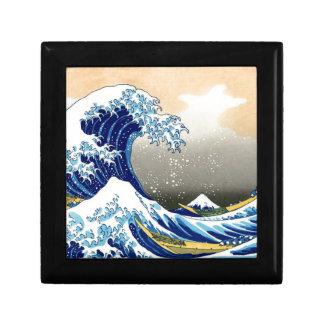 Gran onda del ~ Hokusai de Kanagawa Cajas De Recuerdo