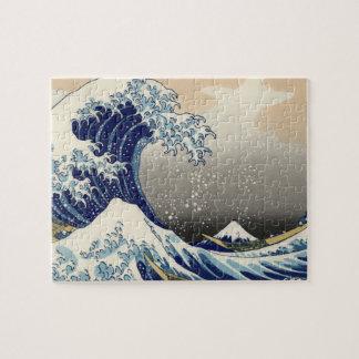 Gran onda del océano asiático de Kanagawa