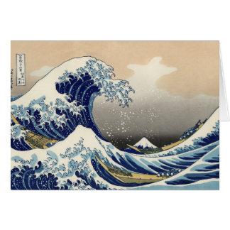 Gran onda del océano asiático de Kanagawa Tarjeta De Felicitación