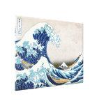 Gran onda del tsunami lona envuelta para galerías