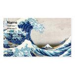 Gran onda del tsunami plantillas de tarjetas personales
