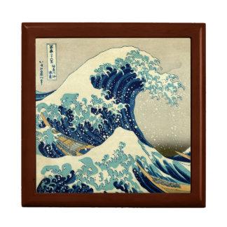 Gran onda del vintage de la pintura de Kanagawa Cajas De Joyas