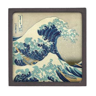 Gran onda del vintage de la pintura de Kanagawa Caja De Recuerdo De Calidad