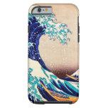 Gran onda del vintage del japonés de Kanagawa Funda De iPhone 6 Tough