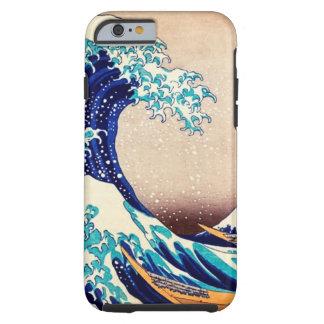 Gran onda del vintage del japonés de Kanagawa Funda Para iPhone 6 Tough