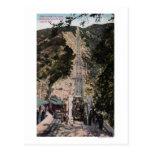 Gran opinión del ferrocarril de la pendiente tarjetas postales