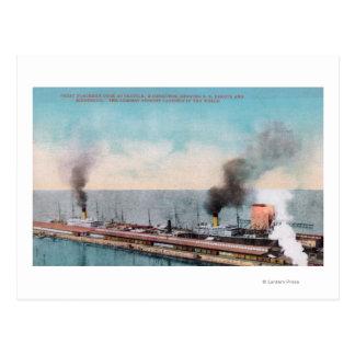 Gran opinión septentrional del muelle, SS Dakota y Postal