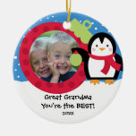 Gran ornamento del navidad del pingüino de la foto ornaments para arbol de navidad