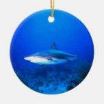 Gran ornamento del navidad del tiburón blanco adorno de navidad
