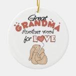 Gran ornamento lindo del navidad de la abuela adorno
