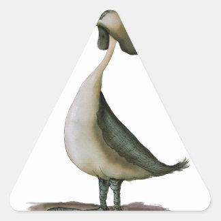 gran pájaro salvaje del grebe con cresta, calcomanías de triangulos personalizadas