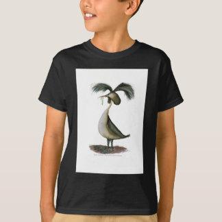 gran pájaro salvaje del grebe con cresta, playera