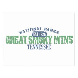 Gran parque nacional ahumado de Mtns Postal