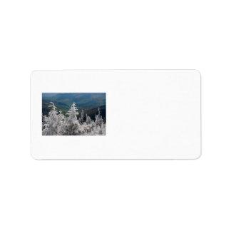 Gran parque nacional de la montaña ahumada etiquetas de dirección