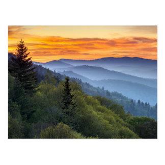 Gran parque nacional de la montaña ahumada postal