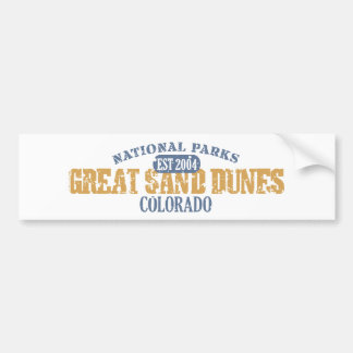 Gran parque nacional de las dunas de arena etiqueta de parachoque