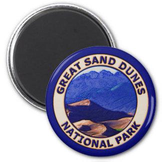 Gran parque nacional de las dunas de arena imán redondo 5 cm