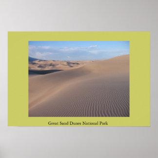 Gran parque nacional de las dunas de arena impresiones