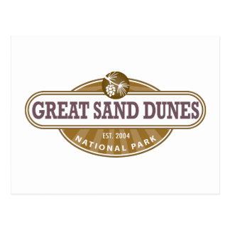 Gran parque nacional de las dunas de arena postal