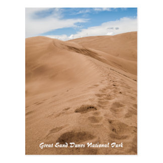 Gran parque nacional de las dunas de arena tarjeta postal