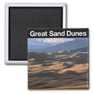 Gran parque nacional de las dunas de arenas imán cuadrado